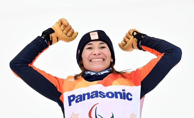 Bibian Mentel opnieuw de beste: goud op banked slalom