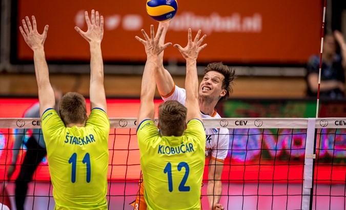 Volleyballers starten Golden European League met 3-1 zege op Slovenië