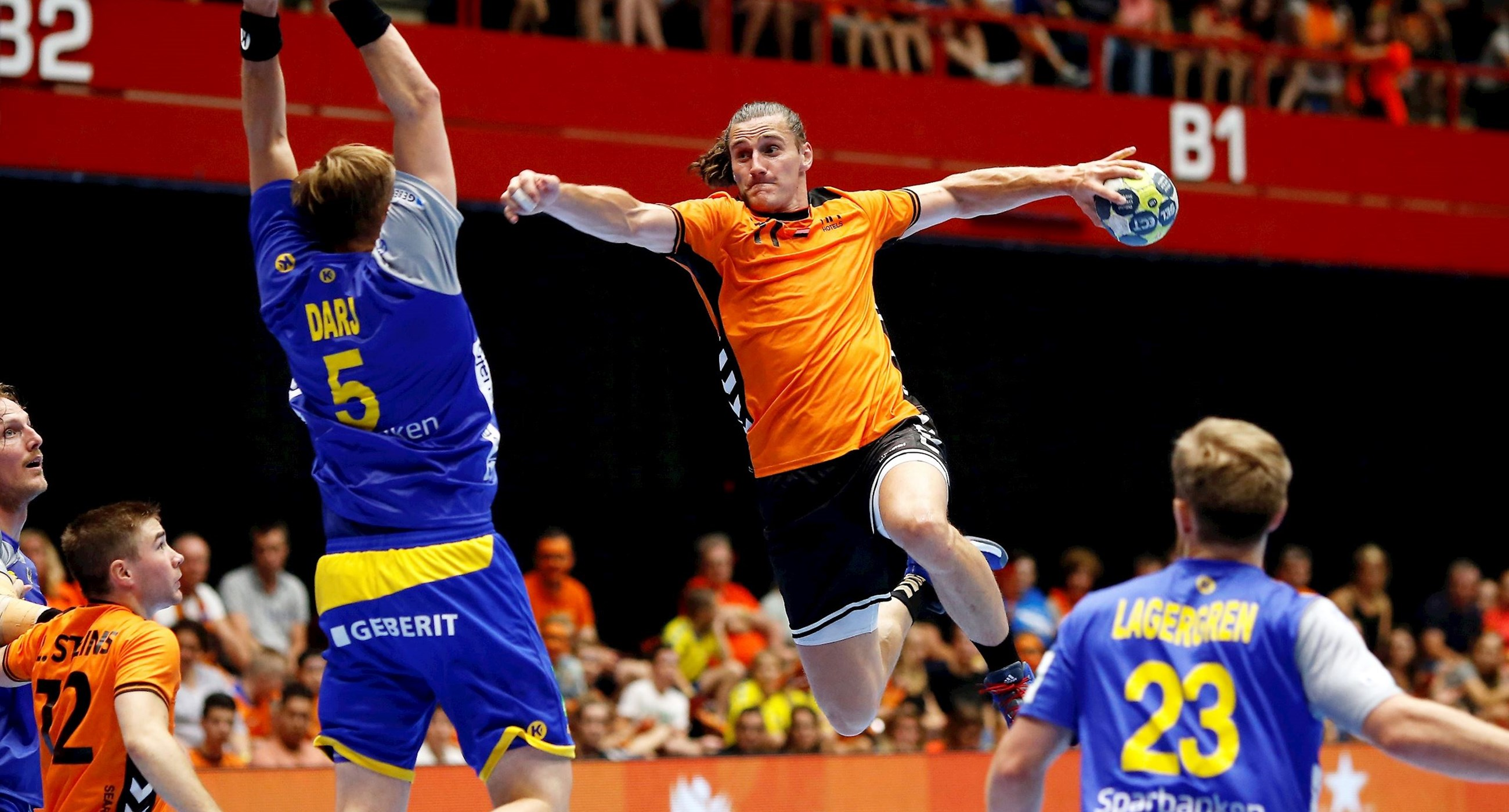 Handbal: WK-playoff (m) Zweden-Nederland