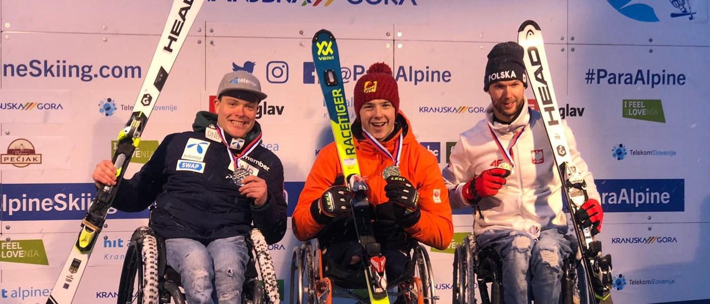Jeroen Kampschreur prolongeert ook wereldtitel op de slalom