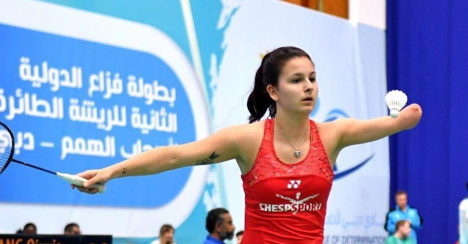 Badmintonster Megan Hollander naar de  Paralympische Spelen
