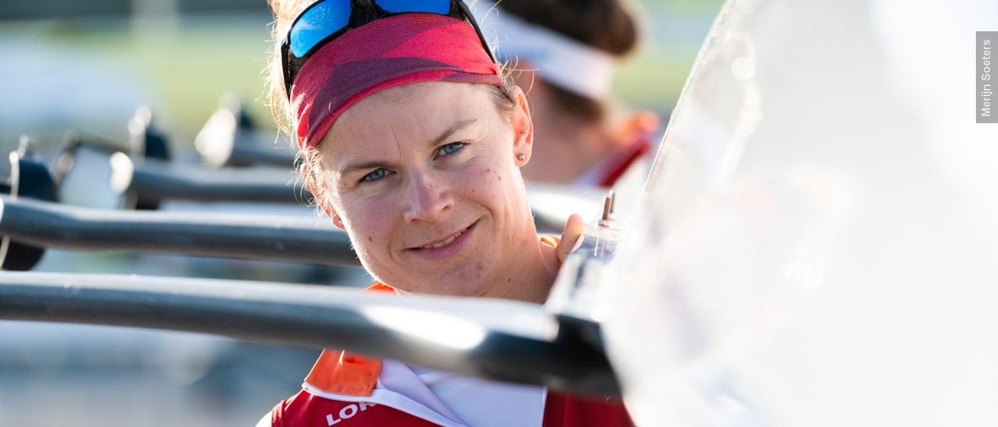 Inge Janssen zit weer met een 'frisse kop' in de boot