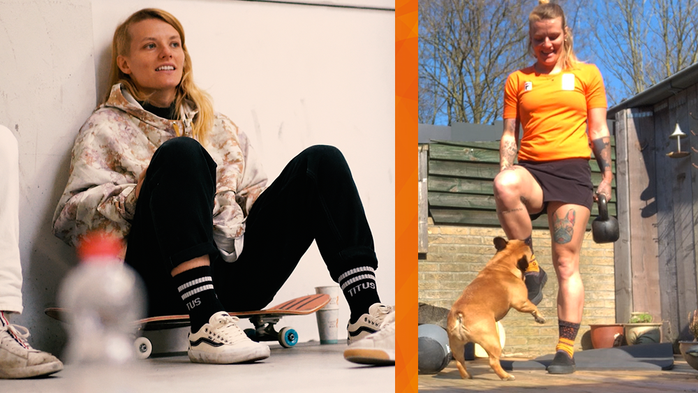 In quarantaine met skateboarder Candy Jacobs