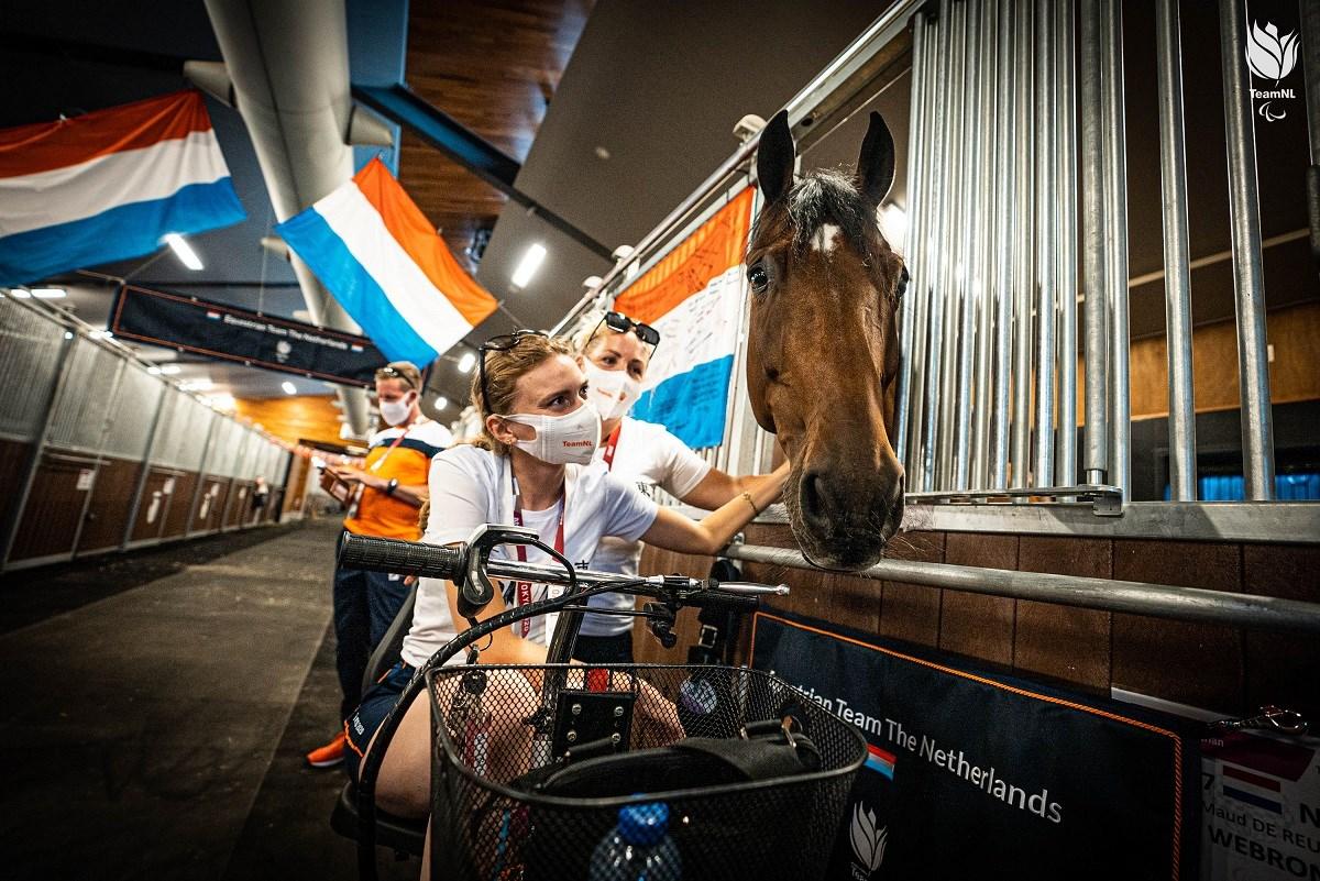 Emotionele hereniging ruiters met dressuurpaarden