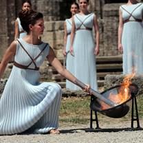 Ontsteken Olympische vlam voor Buenos Aires 2018